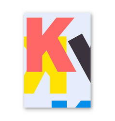 Letter k poster vector