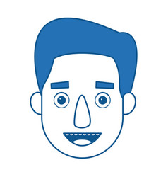 Man profile cartoon face person character vector