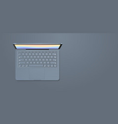 modern laptop with keyboard and colored screen vector image