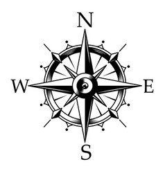 Nautical compass and wind rose concept vector