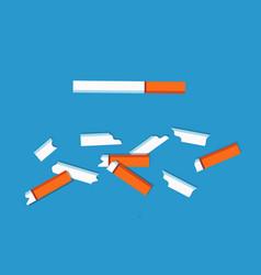 No tobacco cigarettes set vector