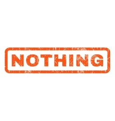 Nothing Rubber Stamp vector