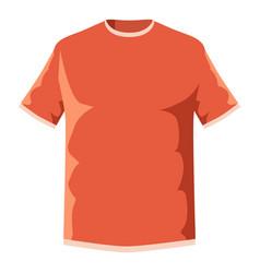 orange soccer shirt icon cartoon style vector image