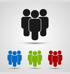 people group icon on the vector image