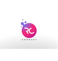 Rc letter dots logo design with creative trendy vector