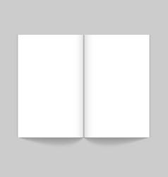 realistic open magazine mockup white empty book vector image