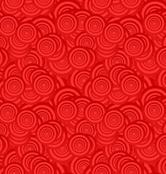 Red seamless circle pattern background vector