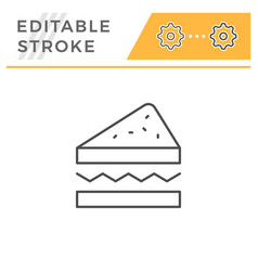 sandwich line icon vector image