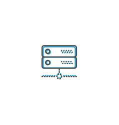 server icon design essential icon vector image