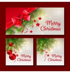 set christmas templates for print or web design vector image
