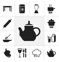 Set of 12 editable kitchen icons includes symbols vector