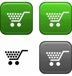 Shopping button vector