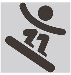Snowboard icon vector image