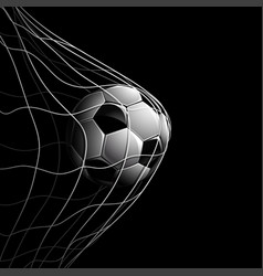 Soccer ball on black vector