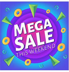 Special weekend mega sale advertising web banner vector