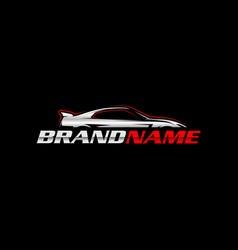 sport car logo template vector image