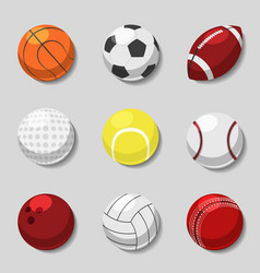 Sports balls cartoon ball set for soccer vector
