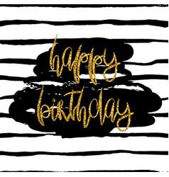 stylish happy birthday card template vector image