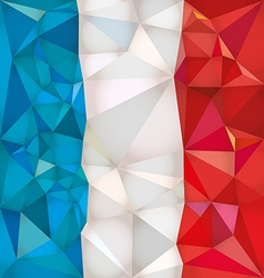 Stylized flag france low poly style vector