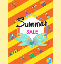 Summer sale banner temp vector