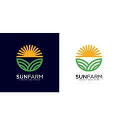 sun farm logo design vector image