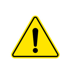 warning sign attention caution exclamation sign vector image