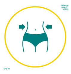 Women waist weight loss diet waistline icon vector