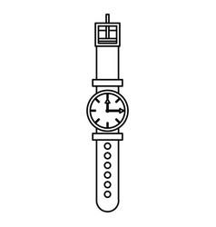 Wristwatch fashion accesory vector