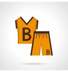 Basketball uniform flat color design icon vector image