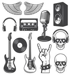 Rock set vector image