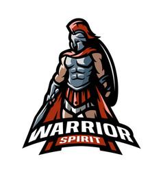 the roman warrior logo vector image vector image