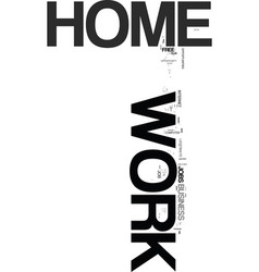 Work at home keywords text word cloud concept vector