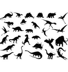 dinosaurs vector image vector image