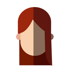 Faceless head girl young people image vector