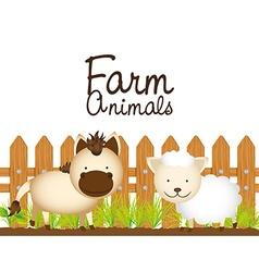 farm animals design vector image