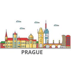prague city skyline buildings streets vector image vector image