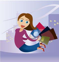 Shopaholic 2 vector image