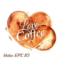 Traces Coffee Heart vector image vector image
