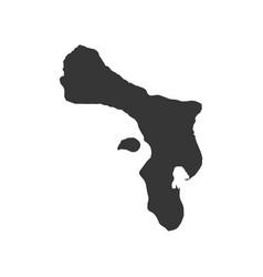 bonaire map outline vector image vector image