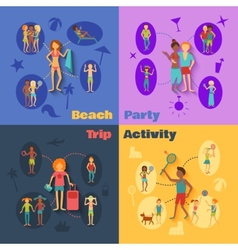 Vacation People Set vector image vector image