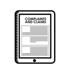 Complaints and claims vector