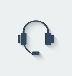 headphone design element vector image