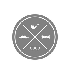 hipster symbol vector image vector image