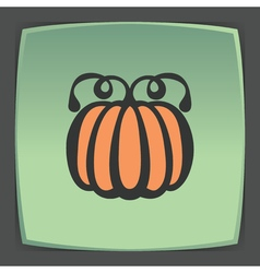 outline pumpkin icon Modern infographic logo and vector image vector image
