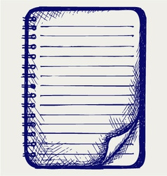 Paper with notebook vector image vector image