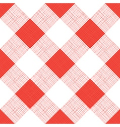 Seamless Picnic Tablecloth Pattern vector image