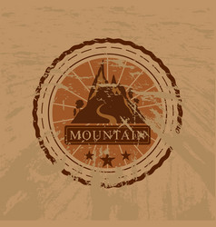 the mountain grunge sticker vector image