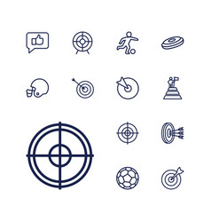 13 goal icons vector