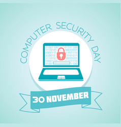 30 november computer security day vector