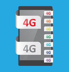 4g connection feature vector
